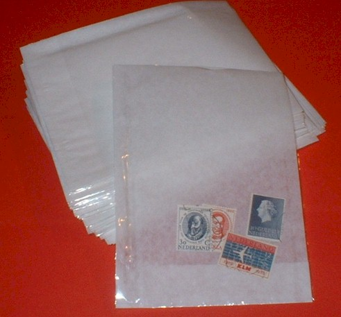 "50 Clearfront Bags Stamp Storage 6"" x 4"""