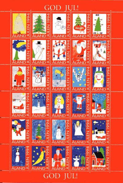 1994 Christmas Seals Sheet