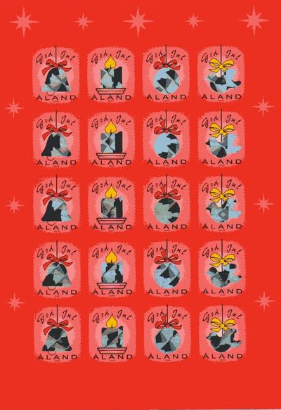 2000 Christmas Seals Sheet