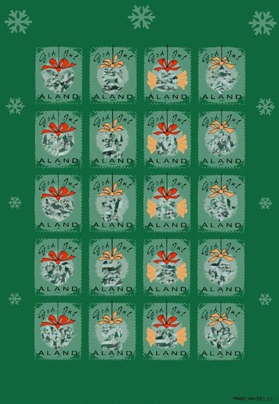 2001 Christmas Seals Sheet