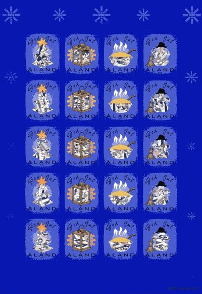 2002 Christmas Seals Sheet