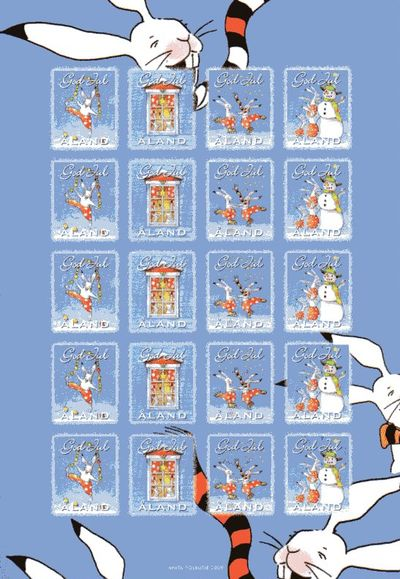 2009 Christmas Seals Sheet