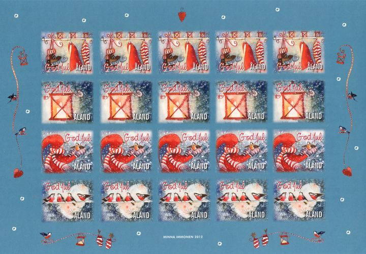 2012 Christmas Seals Sheet