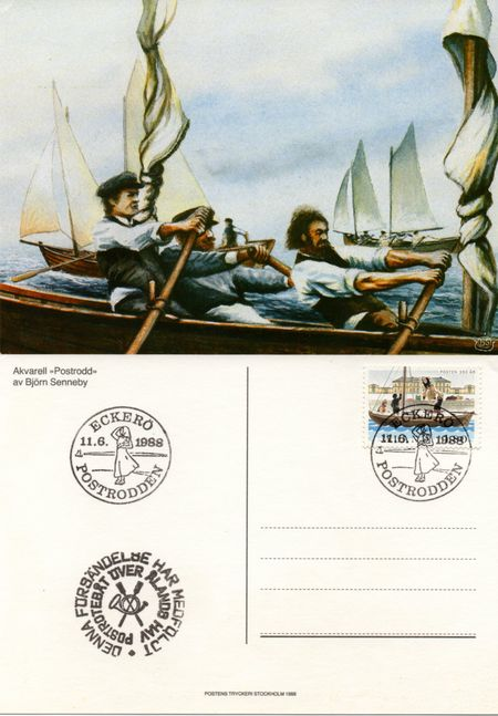 1988 Mailboat Race Postcard
