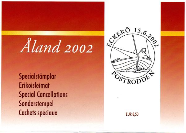 2002 Aland Islands Special Cancellations Set (8)