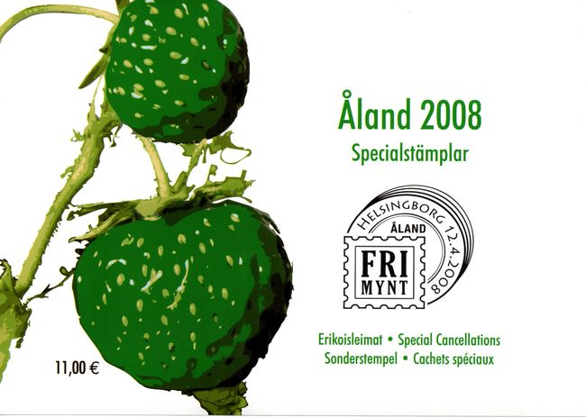 2008 Aland Islands Special Cancellations Set (9)
