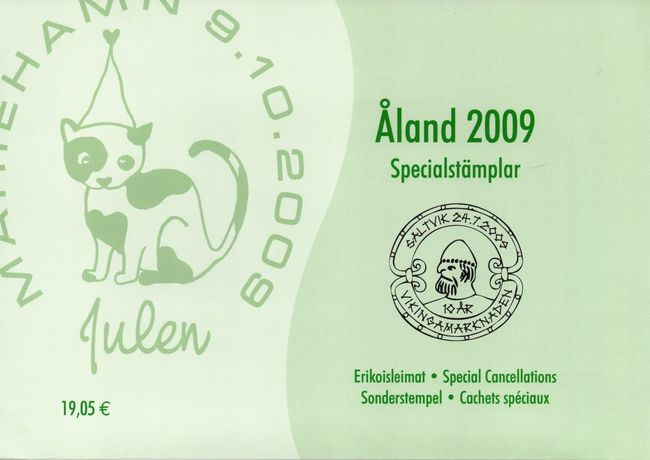 2009 Aland Islands Special Cancellations Set (13)