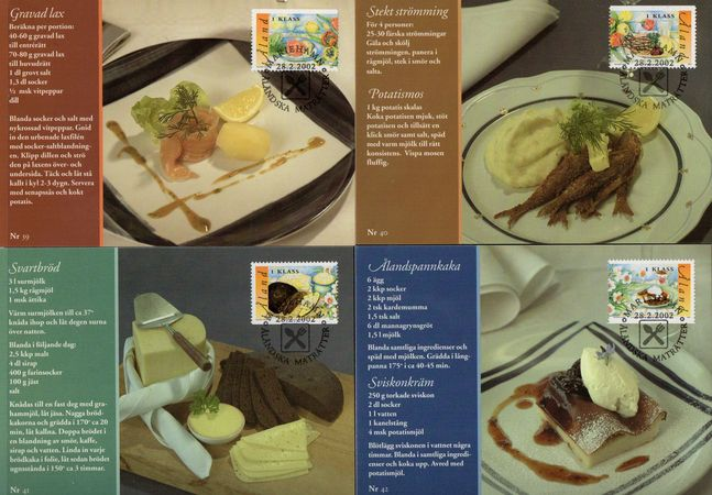 2002 Traditional Dishes PHQ Card Set