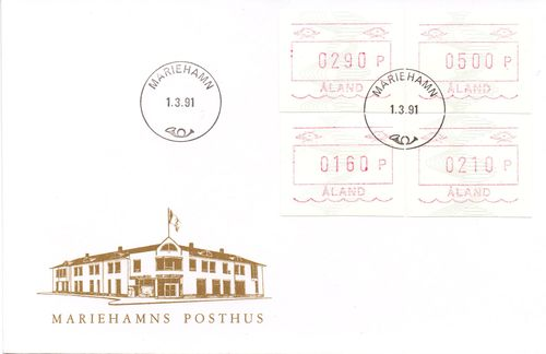 1991 Machine Labels FDC
