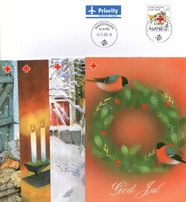 2000 Aland Islands Red Cross Postal Stationary