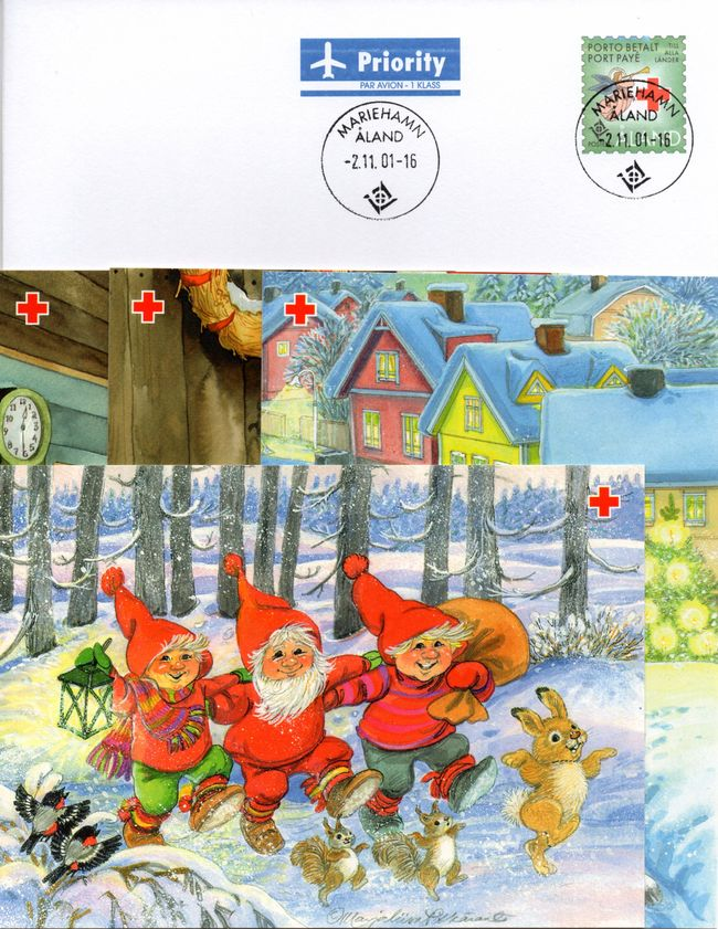 2001 Aland Islands Red Cross Postal Stationary