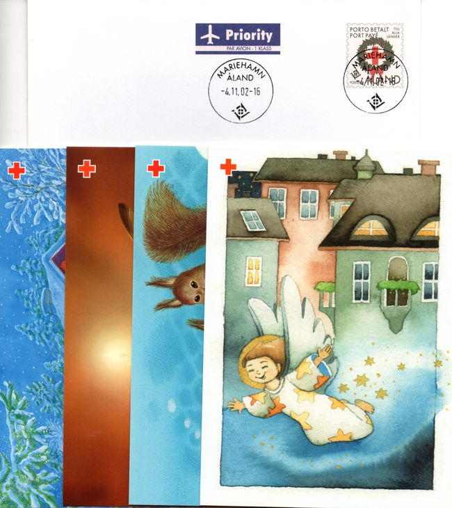 2002 Aland Islands Red Cross Postal Stationary