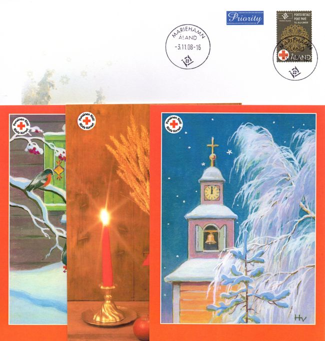 2008 Aland Islands Red Cross Postal Stationary