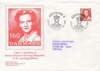 Denmark Queen Margrethe 1974
