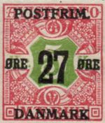 1918 Newspaper Stamps Surcharged