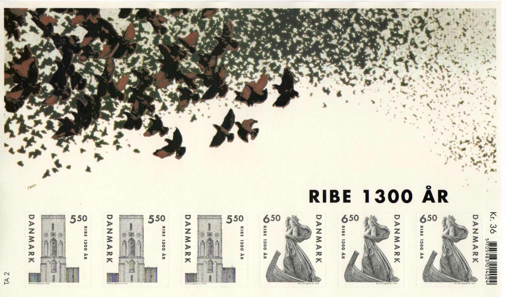 2010 City of Ribe 1300th Anniv. Souvenir Sheet