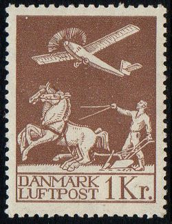 1929 Airmail 1 Kr Brown M/M