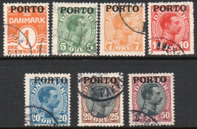 1921 Postage Due Overprints F/U