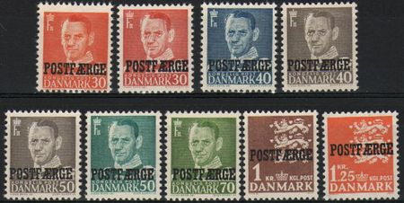1949 - 65 Parcel Post 'POSTFÆRGE' Set