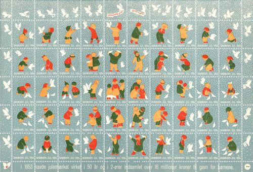 1954 Christmas Seals (Sheet)