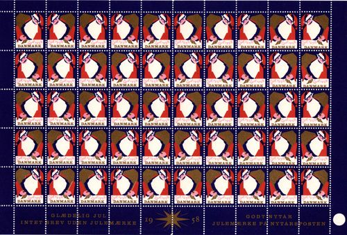1958 Christmas Seals (Sheet)