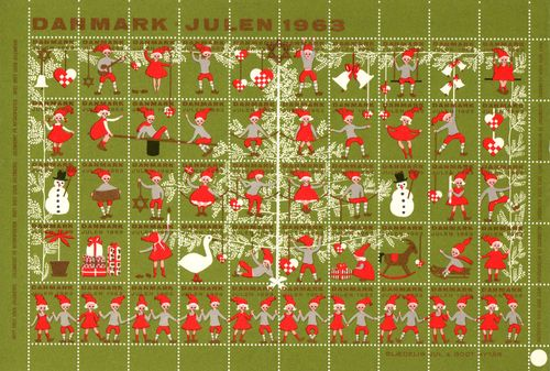 1963 Christmas Seals (Sheet)