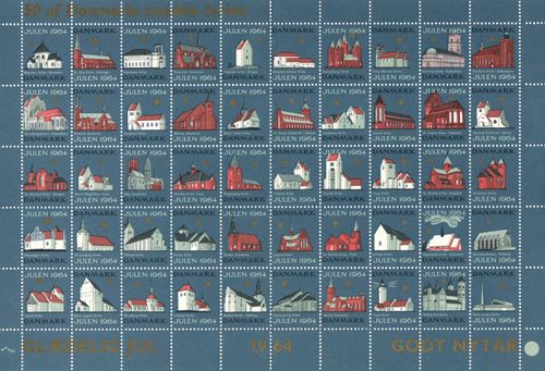 1964 Christmas Seals (Sheet)
