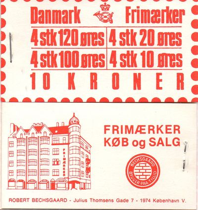1977 Numeral & Queen Margrethe (Red)