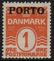 1921 Postage Due O/P- 1ø Orange M/M