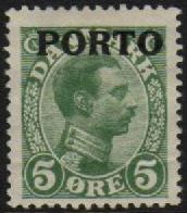1921 Postage Due O/P- 5ø Green M/M