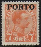 1921 Postage Due O/P- 7ø Orange M/M