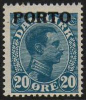 1921 Postage Due O/P- 20ø Blue M/M