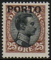 1921 Postage Due O/P- 25ø Black & Brown M/M