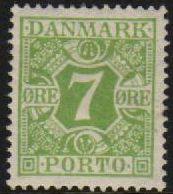 1921 Postage Due - 7ø Green M/M