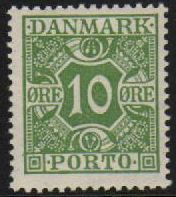 1921 Postage Due - 10ø Green M/M