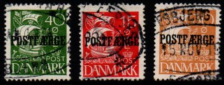 1927 - 30 Parcel Post 'POSTFÆRGE' Set (F/U)