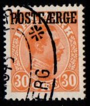 1922 30ø Orange 'POSTFÆRGE' (F/U)