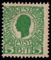 1905 Christian 9th 5b Green