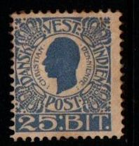 1905 Christian 9th 25b Blue