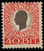 1905 Christian 9th 40b Grey and Red