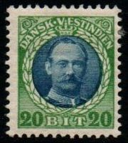 1907 - 08 20b Blue and Green (M/M)