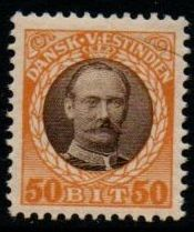 1907 - 08 50b Brown and Yellow