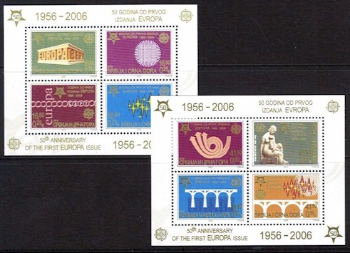 2005 50 Years of Europa Stamps (M/S x 2)