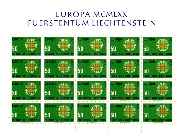 1970 Liechtenstein (Sheet)