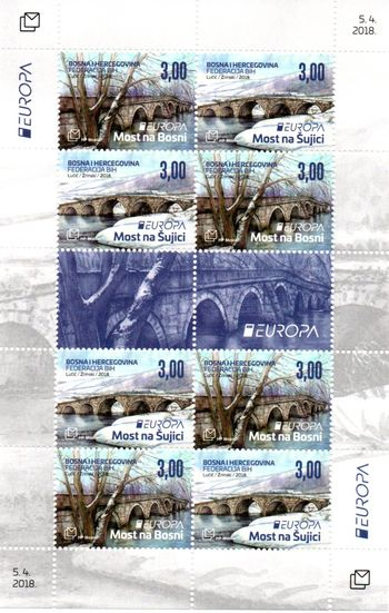 2018 Bosnia Herzegovina Croatia (Sheetlet)
