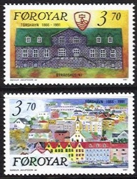 1991 125th Anniv. of Thorshaven