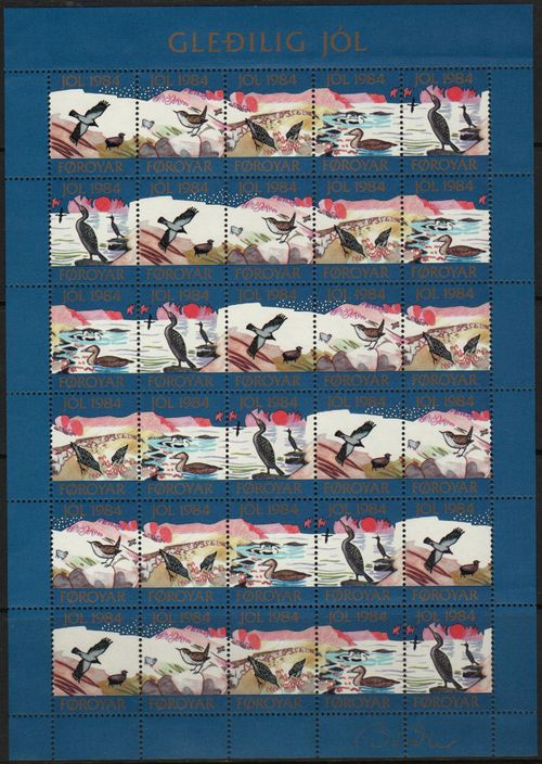 1984 Christmas Seals Sheet (Imp.)