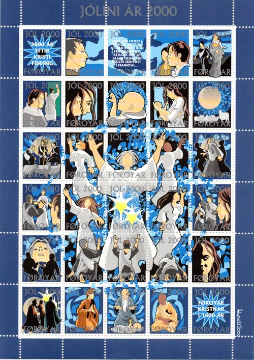 2000 Christmas Seals Sheet (Perf.)