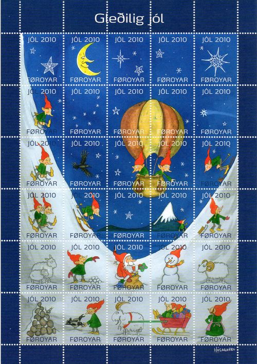 2010 Christmas Seals Sheet