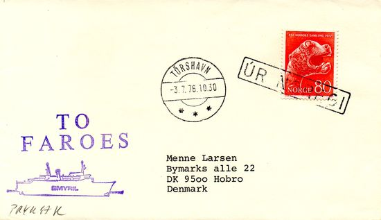 1976 Incoming Ships Mail - From Norway